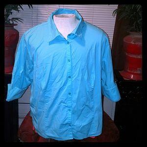 Womens 3/4 sleeve Dress Button Up
